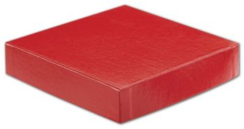 Red Hi-Wall Gift Box Lids, 6 x 6