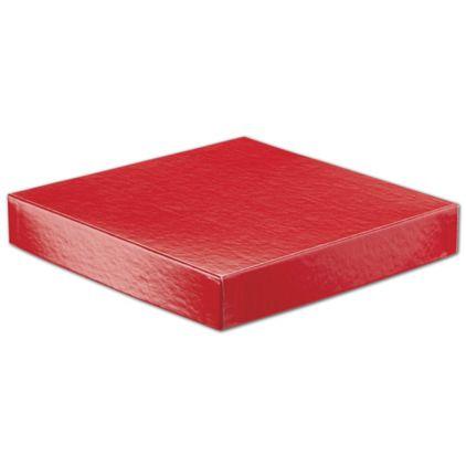 "Red Hi-Wall Gift Box Lids, 8 x 8"""