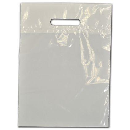 """Clear Low-Density Plastic Die-Cut Bags, 9 x 12"""""""