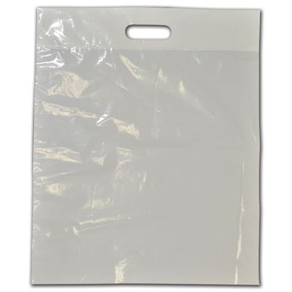 """Clear Low-Density Plastic Die-Cut Bags, 15 x 18"""" + 3"""" BG"""
