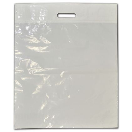 """Clear Low-Density Plastic Die-Cut Bags, 17 x 21"""" + 4"""" BG"""