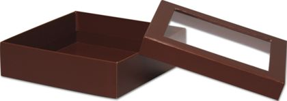 Chocolate Rigid Gourmet Window Boxes, Large