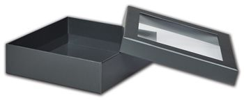Graphite Metallic Rigid Gourmet Window Boxes, Large