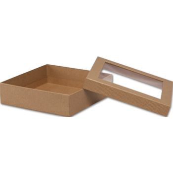 Kraft Rigid Gourmet Window Boxes, Large