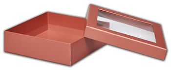 Rose Gold Metallic Rigid Gourmet Window Boxes, Large