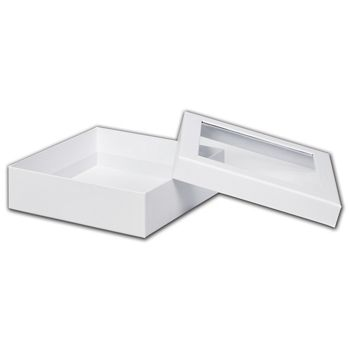 White Rigid Gourmet Window Boxes, Large
