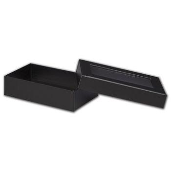 Black Rigid Gourmet Window Boxes, Large Rectangle