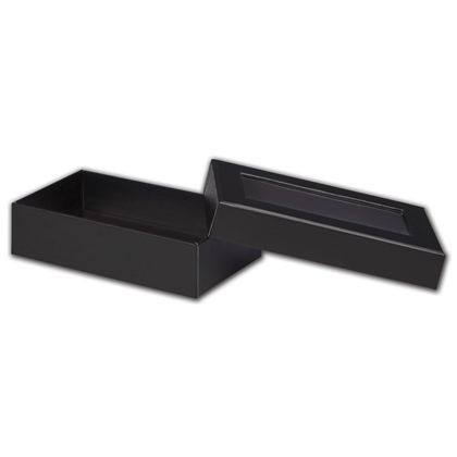 Black Rigid Gourmet Window Boxes, Large Rectangle