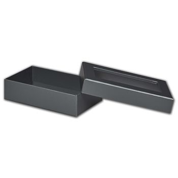 Graphite Metallic Rigid Gourmet Window Boxes, Lg Rectangle