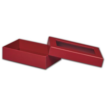Red Rigid Gourmet Window Boxes, Large Rectangle