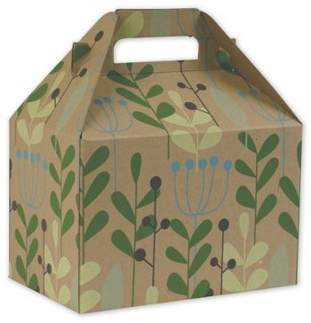 Leaves & Berries Gable Boxes, 8 x 4 7/8 x 5 1/4