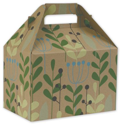 """Leaves & Berries Gable Boxes, 8 x 4 7/8 x 5 1/4"""""""