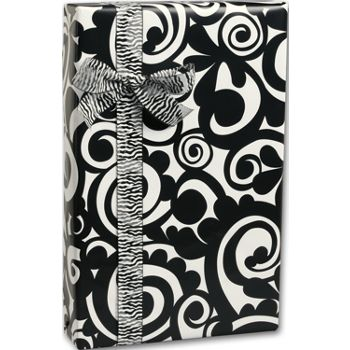 Bold Scroll Gift Wrap, 24