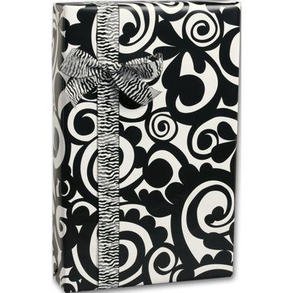 "Bold Scroll Gift Wrap, 24"" x 100'"