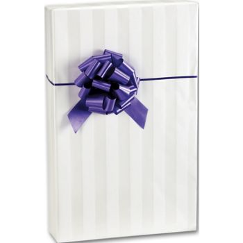 White on White Stripe Gift Wrap, 24