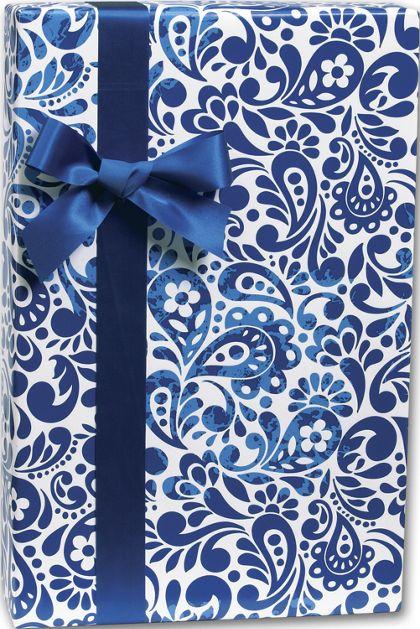 """Batik Scroll Gift Wrap, 24"""" x 100'"""