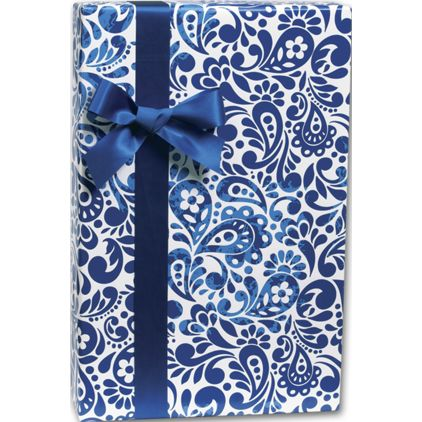 """Batik Scroll Gift Wrap, 24"""" x 417'"""