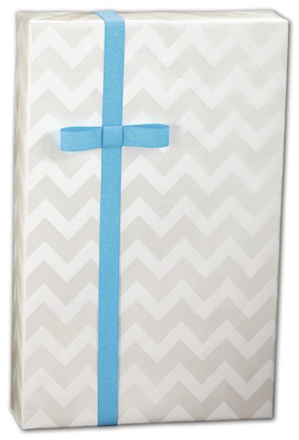 "Pearl Chevron Gift Wrap, 24"" x 100'"