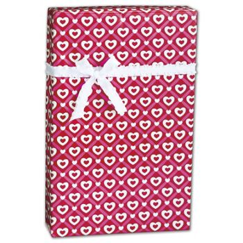 Heart Lattice Gift Wrap, 24