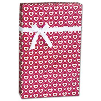 "Heart Lattice Gift Wrap, 24"" x 417'"