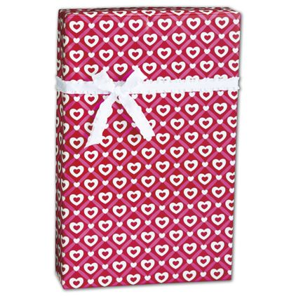 "Heart Lattice Gift Wrap, 24"" x 417'"