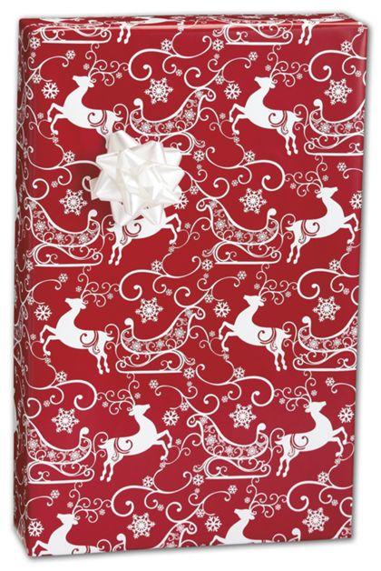 "Sleigh Ride Gift Wrap, 24"" x 417'"