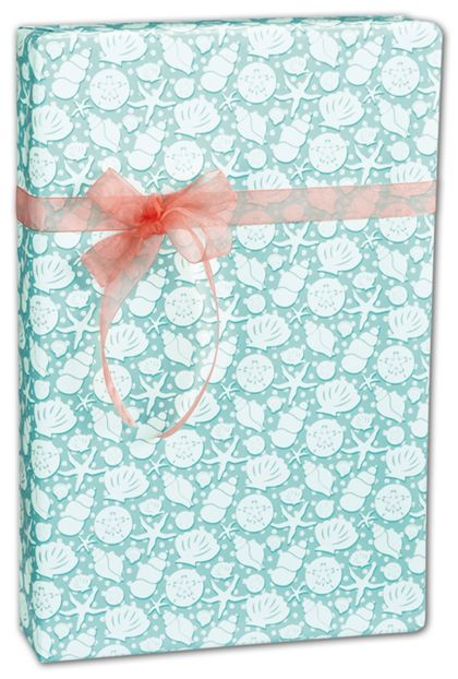 "Seashells Gift Wrap, 24"" x 100'"