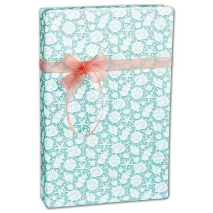"""Seashells Gift Wrap, 24"""" x 100'"""