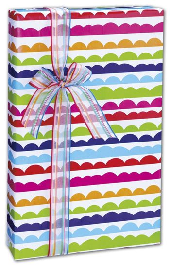 Ruffle Stripe Gift Wrap, 24