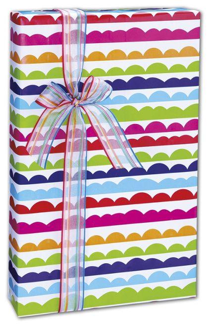 "Ruffle Stripe Gift Wrap, 24"" x 100'"