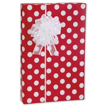 Cherry Dots Gift Wrap, 24