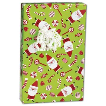 Peppermint Santa Gift Wrap, 24