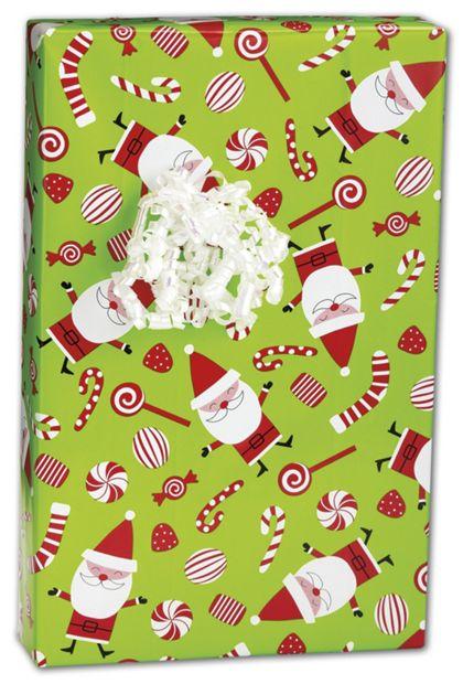 "Peppermint Santa Gift Wrap, 24"" x 100'"