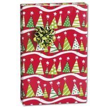 "Christmas Tree Rock Gift Wrap, 24"" x 100'"