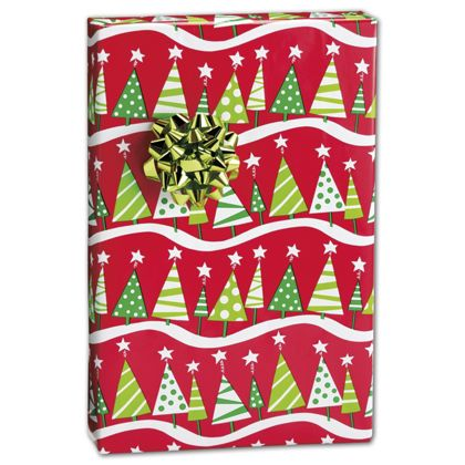 "Christmas Tree Rock Gift Wrap, 24"" x 100'"