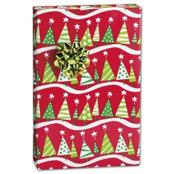 "Christmas Tree Rock Gift Wrap, 24"" x 417'"