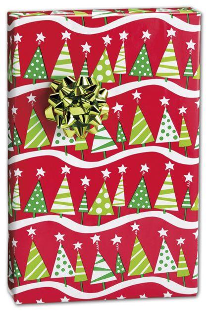 "Christmas Tree Rock Gift Wrap, 24"" x 417'"