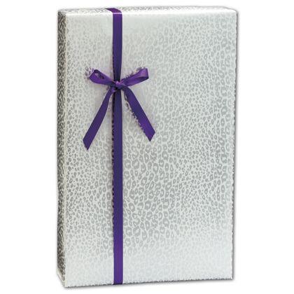 """Silver Cheetah Gift Wrap, 24"""" x 100'"""