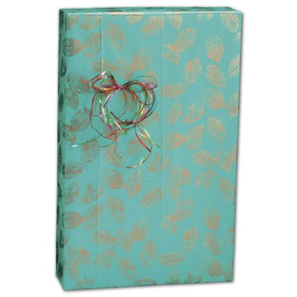 "Copper Leaves Gift Wrap, 24"" x 100'"