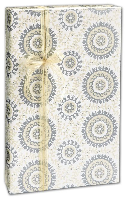"Wedding Suzani Gift Wrap, 24"" x 417'"