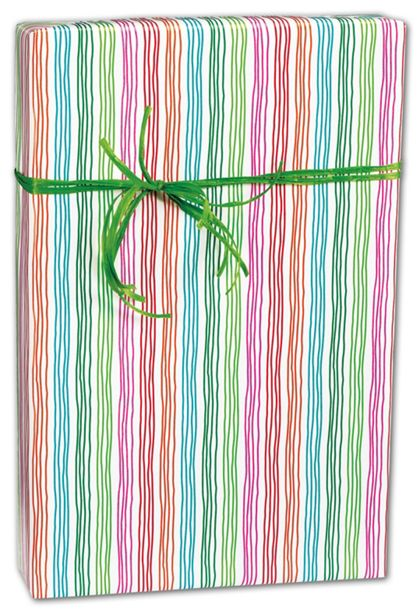 "Stringy Stripes Gift Wrap, 24"" x 100'"
