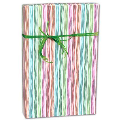 "Stringy Stripes Gift Wrap, 24"" x 100'"