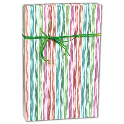 "Stringy Stripes Gift Wrap, 24"" x 417'"