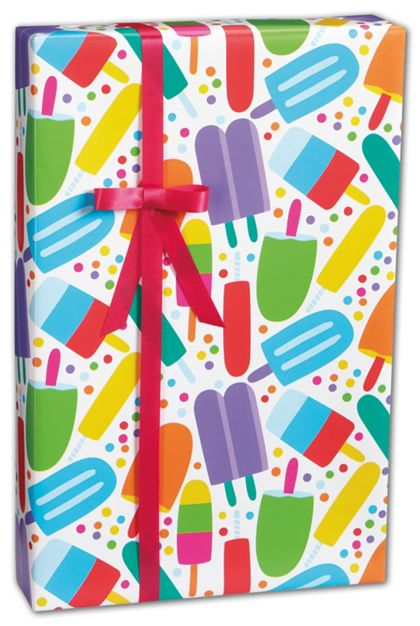 "Popsicles Gift Wrap, 24"" x 100'"
