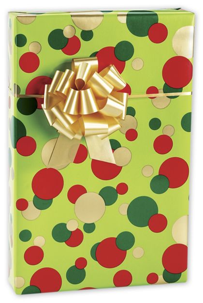 "Christmas Dots Gift Wrap, 24"" x 100'"