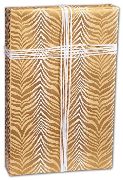 "Zebra Chevron Gift Wrap, 24"" x 100'"