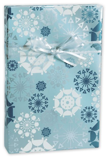 """Shimmer Snowflakes Gift Wrap, 24"""" x 100'"""