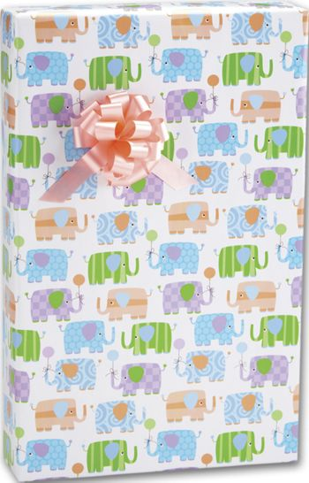 Baby Elephants Gift Wrap, 24