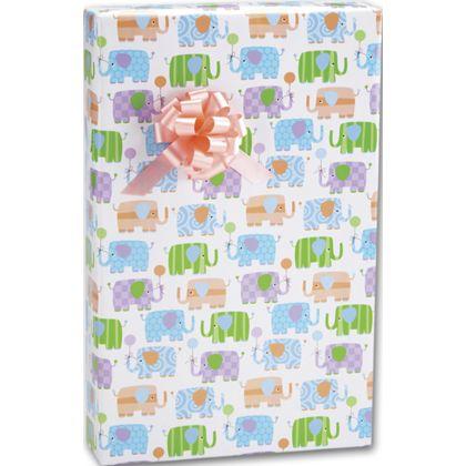 """Baby Elephants Gift Wrap, 24"""" x 417'"""