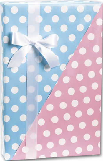 Baby Dots Reversible Gift Wrap, 24